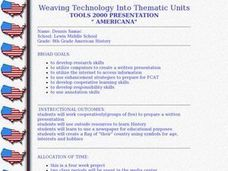 Weaving Technology Into Thematic Units- Americana Lesson Plan