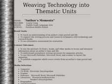Weaving Technology into Thematic Units Lesson Plan