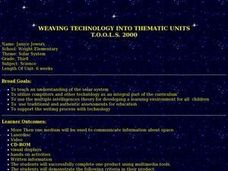 WEAVING TECHNOLOGY INTO THEMATIC UNITS  T.O.O.L.S. 2000 Lesson Plan