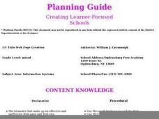 Web Page Creation Lesson Plan