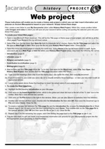 Web Project Worksheet