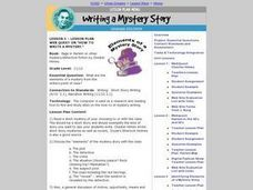 "Web Quest on ""How to Write a Mystery."" Lesson Plan"