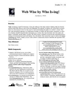 Web Wise by Who Is-ing! Lesson Plan