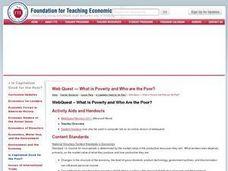 WebQuest- What is Poverty and Who Are the Poor? Lesson Plan