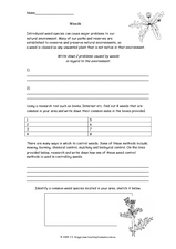 Weeds Worksheet