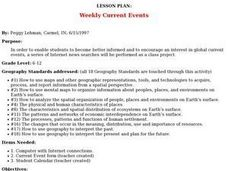 Weekly Current Events Lesson Plan