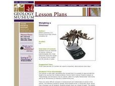 Weighing a Dinosaur Lesson Plan