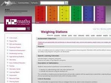 Weighing stations Lesson Plan