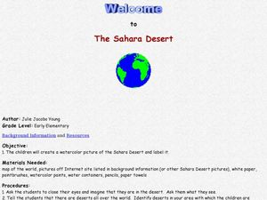 Welcome to the Sahara Desert Lesson Plan