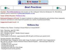 Wellness Day Lesson Plan