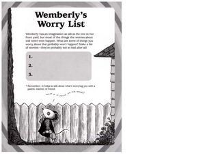 Wemberly's Worry List Lesson Plan