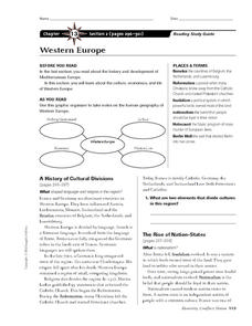 Western Europe Worksheet