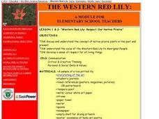 Western Red Lily - Native Prarie Plants Lesson Plan