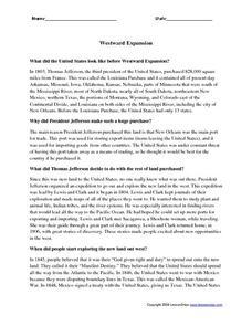 Printables Westward Expansion Worksheet westward expansion 4th 6th grade worksheet lesson planet worksheet