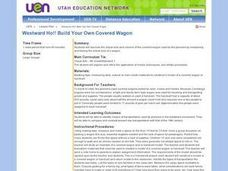 Covered Wagon Lesson Plans