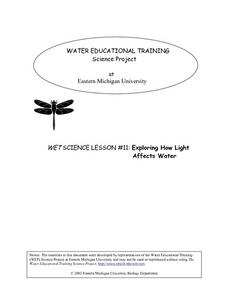 WET Science Lesson #11: How Light Affects Water Lesson Plan