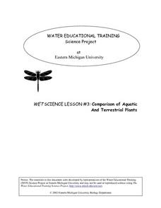 WET Science Lesson #3: Comparison of Aquatic and Terrestrial Plants Lesson Plan