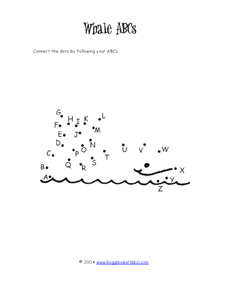 Whale ABCs Worksheet
