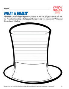 What a Hat: Writing Activity Lesson Plan