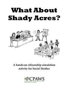 What About Shady Acres? Lesson Plan