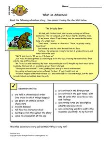 What an Adventure! Lesson Plan