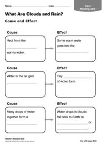 What Are Clouds and Rain? Worksheet