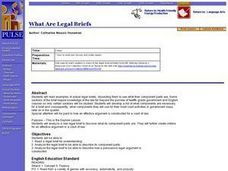 What Are Legal Briefs? Lesson Plan