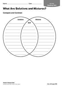 Solvent And Solute Worksheet - Delibertad