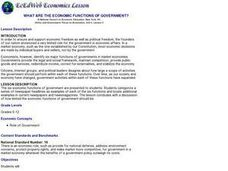 What are the Economic Functions of Government? Lesson Plan