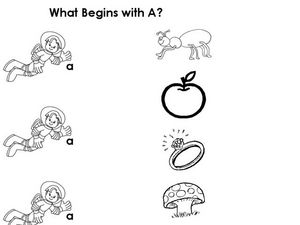 What Begins With A? Short Vowel Sounds Worksheet