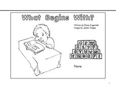 What Begins With? Worksheet