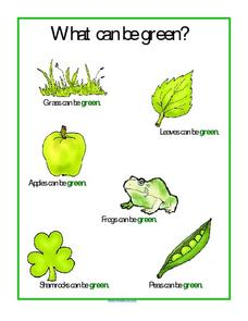 What Can Be Green? Worksheet