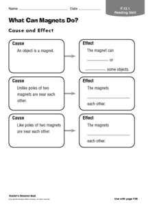 What Can Magnets Do? Worksheet