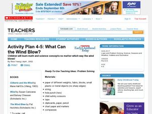 What Can the Wind Blow? Lesson Plan
