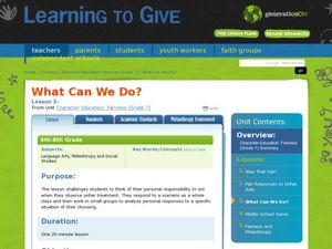 What Can We Do? Lesson Plan