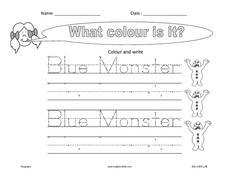 What Color Is it? Color and Print Worksheet