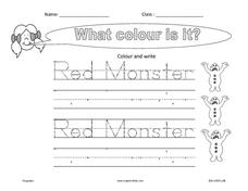 What Color Is It? Worksheet