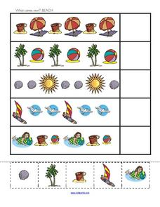 What Comes Next? Beach Worksheet