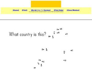 What Country is This? Sweden Dot to Dot Worksheet