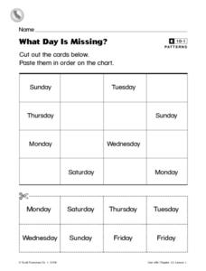 What Day Is Missing? Worksheet
