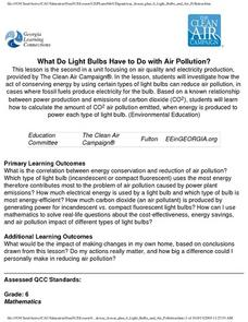 What Do Light Bulbs Have to Do with Air Pollution? Lesson Plan