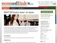 What Do People Want to Wear? Lesson Plan