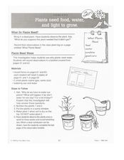 What do Plants Need? Lesson Plan