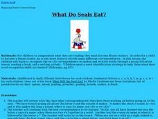 What Do Seals Eat? Lesson Plan