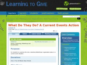 What Do They Do? A Current Events Action Lesson Plan