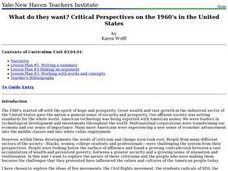 What do they want? Critical Perspectives on the 1960's in the United States Lesson Plan