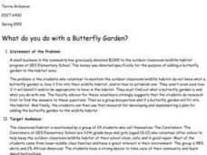 What Do You Do With A Butterfly Garden? Lesson Plan