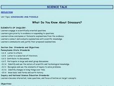 What Do You Know About Dinosaurs? Lesson Plan