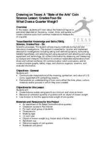 What Does a Quarter Weigh? Lesson Plan