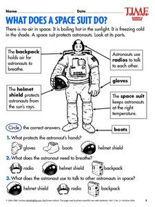 What Does a Space Suit Do? Lesson Plan